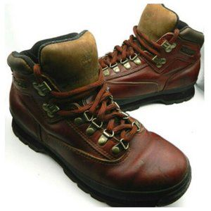 Vtg Timberland Boots Mens 9 Leather Hiking Outdoor